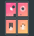 mobile app ui chart and diagram screens mockup kit vector image vector image
