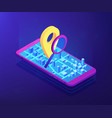mobile tracking soft isometric 3d concept vector image