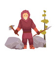 northern stone age primitive man well dressed in vector image vector image