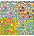 psychedelic circles pattern set vector image vector image