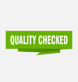 quality checked vector image vector image