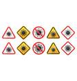 set biological virus alert signs coronavirus vector image