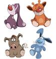 Set of stuffed toys cartoon vector image