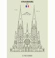 st pauls church of strasbourg vector image vector image