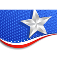 Stars and stripes landscape silver star vector | Price: 1 Credit (USD $1)