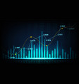 stock market or forex trading graph in graphic vector image