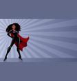superheroine black ray light vector image vector image