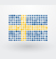 swedish flag made up of dots vector image vector image
