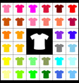 t-shirt sign felt-pen 33 colorful icons vector image vector image