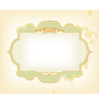 Template frame design for card vector image vector image
