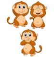 Three wise monkey cartoon vector image