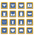 underwear items icons set blue vector image vector image