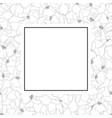 vanda miss joaquim orchid outline banner card vector image vector image
