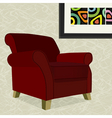 velvet armchair vector image vector image