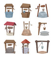 water well antique cartoon country wellness vector image vector image