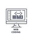 web coding line icon concept web coding vector image vector image