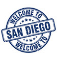 Welcome to san diego blue round vintage stamp