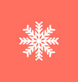 white snowflake on a red background snowflake vector image vector image