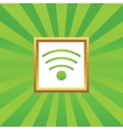 Wi-Fi picture icon vector image vector image