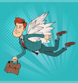 wings of success vector image