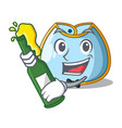 with beer baby bib isolated on the mascot vector image vector image