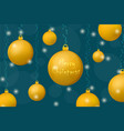 xmas and new year concept background gold vector image vector image