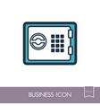 bank safe outline icon finances sign vector image