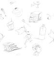 cartoon style seamless background vector image