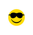 isolated sunglasses flat icon happy vector image