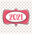 2020 in hand drawn frame design card on pastel vector image vector image