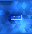 abstract blurred blue shiny triangle patterns vector image