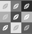 american simple football ball grayscale vector image vector image