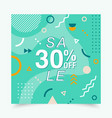banner with geometric forms lines and dots in vector image vector image
