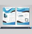 blue business brochure vector image