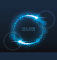 blue glowing circle with light bursts eps10 vector image