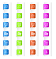 Bookmarks with System Icons in Four Colors vector image vector image