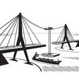 building suspended bridge vector image vector image