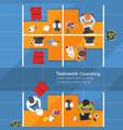 business analysis teamwork flat design teamwork vector image vector image