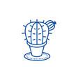 cactus line icon concept cactus flat vector image