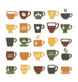 coffee mugs symbols for logo design vector image