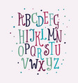 color set funny letters isolated vector image vector image
