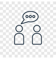 conversation concept linear icon isolated on vector image