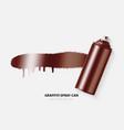 copper paint aerosol spray metal bottle can vector image vector image