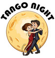 couple dancing on fullmoon night vector image