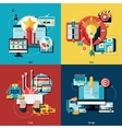Creative Project Icons Set vector image vector image