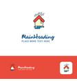 creative raining logo design flat color logo vector image vector image