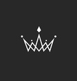 Crown logo monogram mockup black and white royal vector image vector image