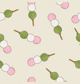 dango seamless pattern vector image