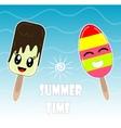 design with Kawaii chocolate and vector image vector image
