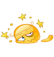 dizzy and squashed emoticon vector image